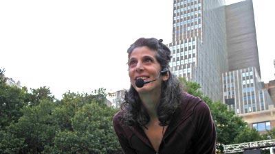 Jennifer Teaching at Bryant Park