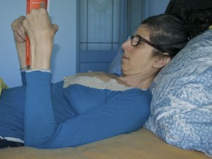 Reading in Bed with Flattened Cervical Spine