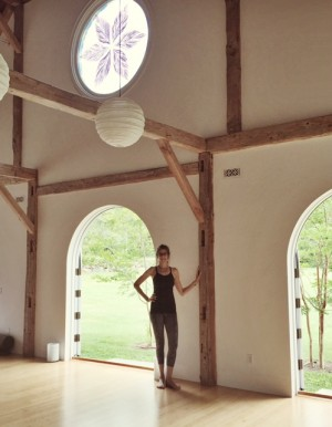 Before class at The Yoga Barn