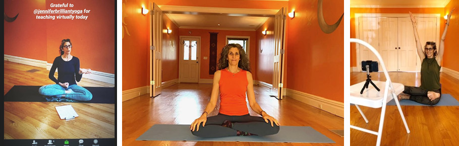 Online yoga classes with Jennifer Brilliant
